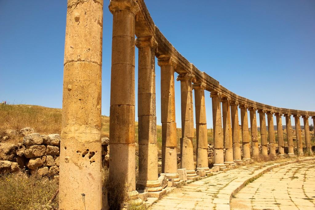 สถาปัตยกรรมโรมัน เมืองเจราช เมืองพันเสา จอร์แดน Roman ruins, Jerash, Jordan