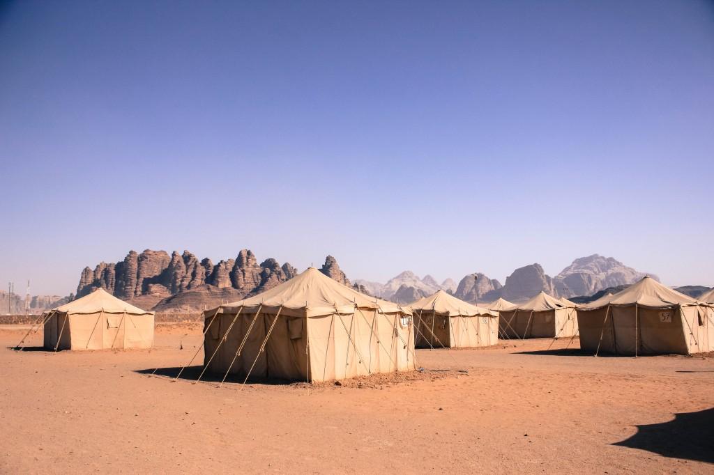 เตนท์กลางทะเลทราย วาดีรัม จอร์แดน tents, Wadi Rum Desert, Jordan