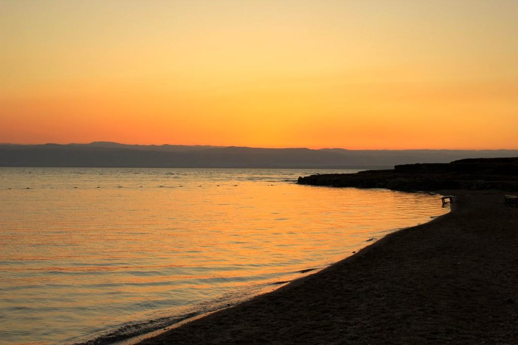 พระอาทิตย์ตกดิน เดดซี จอร์แดน Sunset at Dead Sea, Jordan